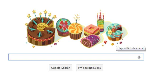 Google Doodles for my birthday